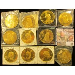 Pella Iowa Annual Tulip Time Medals, all BU: 1973, 1975, 1976, 1977, (3) 1980, (3) 1981, & 1991. (11