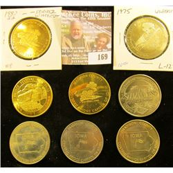 Bridges of Madison County Winterset, Iowa Medals: 1970, 75, 76, 78, 80, 82, 98, & 2001. All 39mm. BU