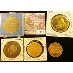 (5) Different Iowa Quasquicentennial Medals, Includes: Oskaloosa, North English, Clarksville, Burlin