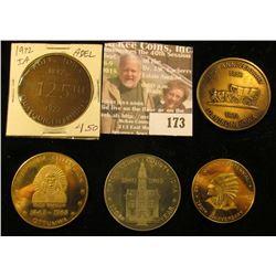 (5) Different Iowa Quasquicentennial Medals, Includes: Adel, Ottumwa, Tipton, Quasqueton, & Denison,