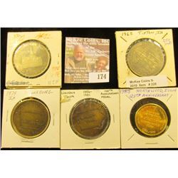 (5) Different Iowa Quasquicentennial Medals, Includes: Adel, Tipton, Shellsburg, Waverly, & Northwoo