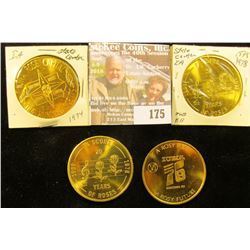 "1974, 1976 & (2) 1978 State Center, Iowa ""One Hundred Scents"" Medals, all 39mm, BU."