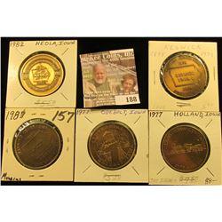 (5) Different Iowa Centennial Medals, all brass. Includes Manning, Odebolt, Holland, Keswick, & Neol