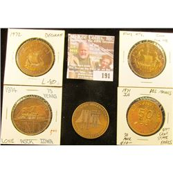 1972 Decorah, Iowa Nordic Fest Medal; 1974 Lone Rock Diamond Jubilee Medal; 1971 Des Moines, Iowa Go