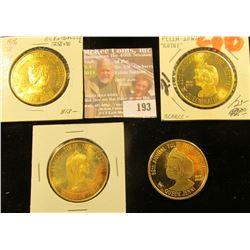 1971, 76, 77, & 2004 Pella Tulip Time Dollars, all BU, 39 mm.