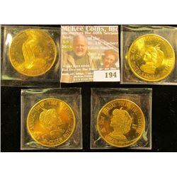 1971, 76, 77, & 1987 Pella Tulip Time Dollars, all BU, 39 mm.