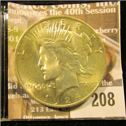 1924 P U.S. Peace Silver Dollar, Choice Gem BU.