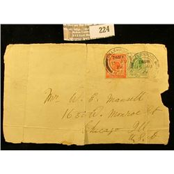 Two 1929 Great Britain Stamps on a partial cover.