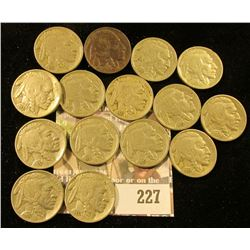 Bag of 15 high quality 1937 Buffalo Nickels.