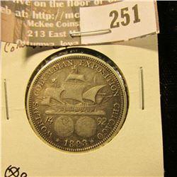 1893 Columbian Exposition Commemorative Half Dollar.