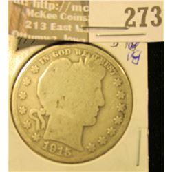 1915 S Barber Half Dollar, G/AG.