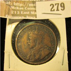 1917 P Canada Large Cent, Fine.