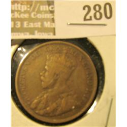 1918 P Canada Large Cent, Fine.