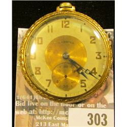 "Illinois Watch Co. open face watch, movement labeled ""19 Jewel R.T. Ferguson Philadelphia"" Rolled Go"
