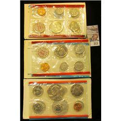 1969, 71, & 74 U.S. Mint Sets. All original as issued. CDN bid is $11.75.