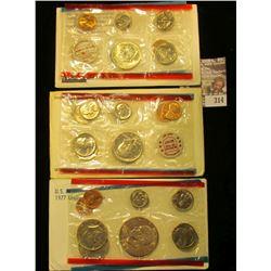 1969, 72, & 77 U.S. Mint Sets. All original as issued. CDN bid is $11.75.