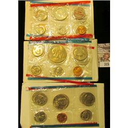 1969, 77, & 79 U.S. Mint Sets. All original as issued. CDN bid is $13.50.