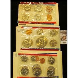 1969, 77, & 81 U.S. Mint Sets. All original as issued. CDN bid is $16.00