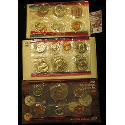 1969, 81, & 85 U.S. Mint Sets. All original as issued. CDN bid is $14.75