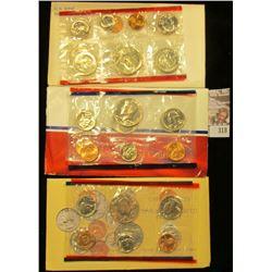 1981, 87, & 90 U.S. Mint Sets. All original as issued. CDN bid is $12.75
