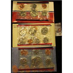 1981, 87, & 91 U.S. Mint Sets. All original as issued. CDN bid is $13.00