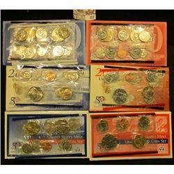 2000, 2001, & 2002 P & D U.S. Mint Sets. All original as issued. CDN bid is $18.00