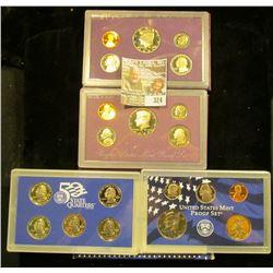 1987 S, 88 S, & 2002 S U.S. Proof Sets. Original as issued. CDN bid is $12.25.