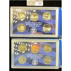 2005 S & 2006 S U.S. Mint 50 State Quarters Proof Sets in original boxes as issued.