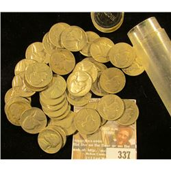 (40) Old Jefferson Nickels dating back more than forty years in a plastic tube.