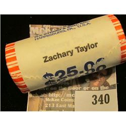 Solid Date Roll of Gem BU 2009 Zachary Taylor Presidential Dollars in Mint sealed wrapper. Believed
