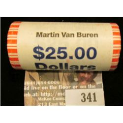 Solid Date Roll of Gem BU 2008 Martin Van Buren Presidential Dollars in Mint sealed wrapper. Believe