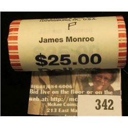 Solid Date Roll of Gem BU 2008 James Monroe Presidential Dollars in Mint sealed wrapper. Believed to