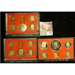 1979 S Type 1; 81 S Type 1 & 82 S U.S. Proof Sets. All original as issued. CDN bid is $14.50.