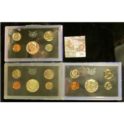 1968 S, 69 S, & 70 S Silver U.S. Proof Sets. All original as issued. CDN bid is $19.70.