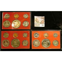 1975 S, 76 S, & 77 S U.S. Proof Sets. All original as issued. CDN bid is $19.75.