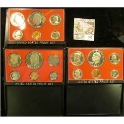1976 S, 77 S, & 78 S U.S. Proof Sets. All original as issued. CDN bid is $17.25.