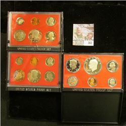 1978 S, 81 S, & 82 S U.S. Proof Sets. All original as issued. CDN bid is $13.00.
