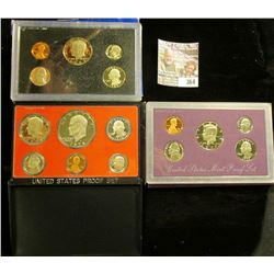 1978 S, 83 S, & 90 S U.S. Proof Sets. All original as issued. CDN bid is $11.75.