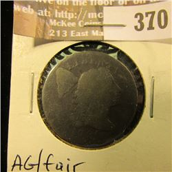 1796 Large Cent, AG/Fair.
