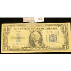 1934 Series $1 Silver Certificate, Fine.