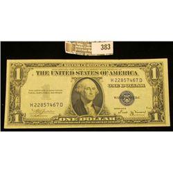 Series 1935B $1 Silver Certificate, VF.