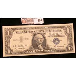 Series 1957 $1 Silver Certificate, AU.