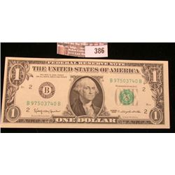 Series 1963 New York $1 Note, Choice Unc.
