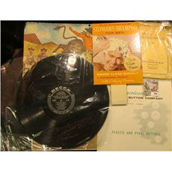 "33 1/3 RPM Record Album in used condition with no cover for ""The Musical Score of The Wizard of Oz"""