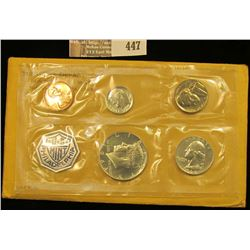 1964 U.S. Proof Set with a Cameo Frosted Kennedy Half-Dollar in original envelope as issued. CDN Bid