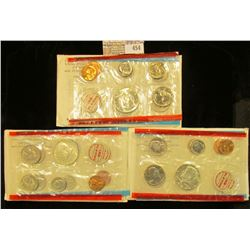1968, 1969 & 1970 U.S. Silver Mint Sets, all original as issued. CDN Bid is $23.75.