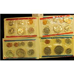 1972, 73, 74, & 75 U.S. Mint Sets, original as issued. CDN bid is $21.75.