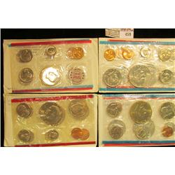 1972, 74, 75, & 76 U.S. Mint Sets, original as issued. CDN bid is $19.25.