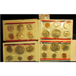 1972, 76, 77, & 78 U.S. Mint Sets, original as issued. CDN bid is $17.75.