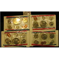 1976, 77, 78, & 79 U.S. Mint Sets, original as issued. CDN bid is $19.50.